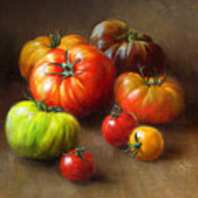 Heirloom Tomatoes Poster by Robert Papp