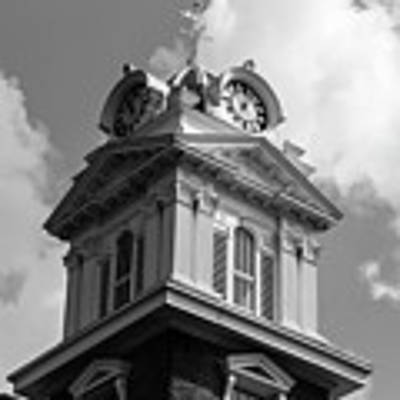 Historic Courthouse Steeple In Bw Poster by Doug Camara