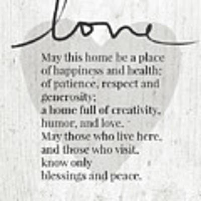 Home Blessing Rustic- Art By Linda Woods Poster