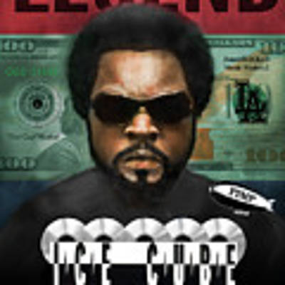 Ice Cube  Poster by Dwayne Glapion