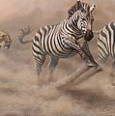 In Pursuit Poster by Alan M Hunt