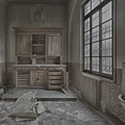 Interior Furniture Atmosphere Of Abandoned Places Dig Photo Poster by Enrico Pelos