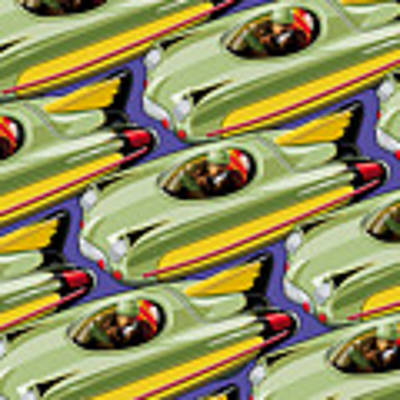 Jet Racer Rush Hour Poster by Ron Magnes