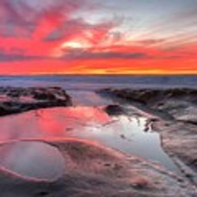 La Jolla Tidepools At Sunset Poster by Nathan Rupert