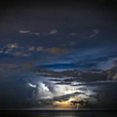 Lightning's Water Dance Poster by Steven Santamour