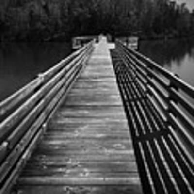 Long Wooden Bridge Poster by Kelly Hazel