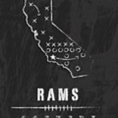 Los Angeles Rams Art - Nfl Football Wall Print Poster by Damon Gray