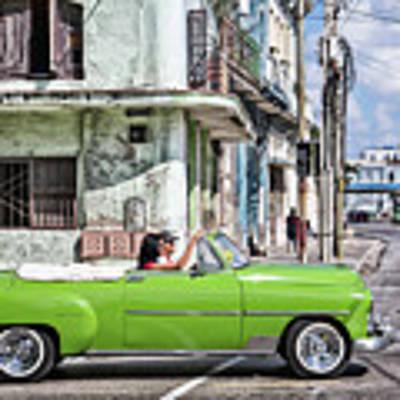 Lovin' Lime Green Chevy Poster by Gigi Ebert