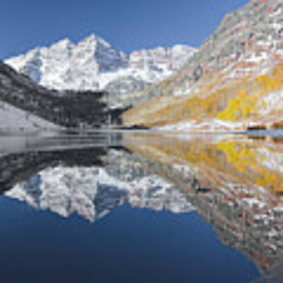 Maroon Bells Mirror Poster by Jemmy Archer