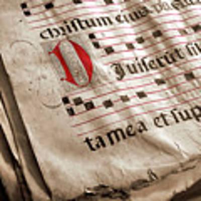 Medieval Choir Book Poster