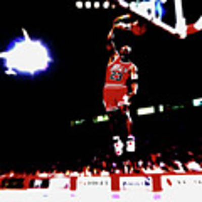 ... Michael Jordan Breakaway Slam Dunk Poster by Brian Reaves. Movement and  Motion. More Collections. Poster featuring the digital art Air ... 344edfa93