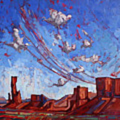 Monument Sky II Poster by Erin Hanson