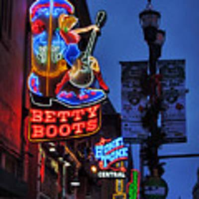 Nashville - Broadway 002 Poster by Lance Vaughn