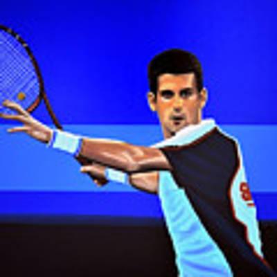 Novak Djokovic Poster by Paul Meijering