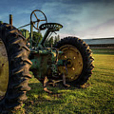 Old Tractor In The Field Outside Of Keene Nh Poster by Edward Fielding