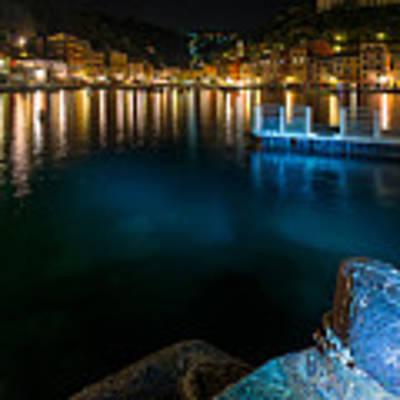 One Night In Portofino - Una Notte A Portofino Poster by Enrico Pelos