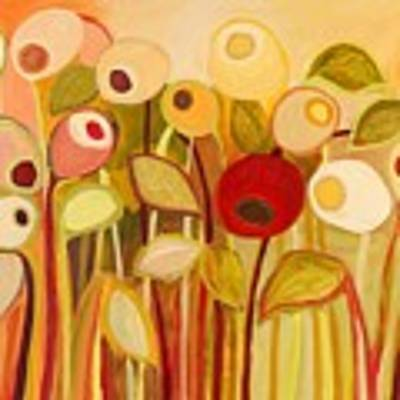 One Red Posie Poster by Jennifer Lommers