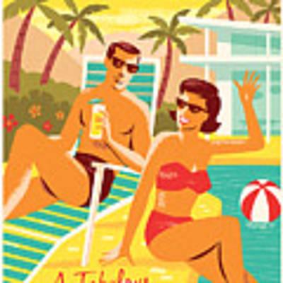 Palm Springs Poster - Retro Travel Poster by Jim Zahniser