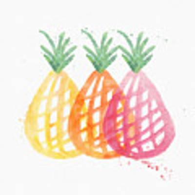 Pineapple Trio Poster