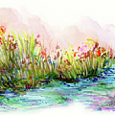 Sunrise Pond Poster by Lauren Heller