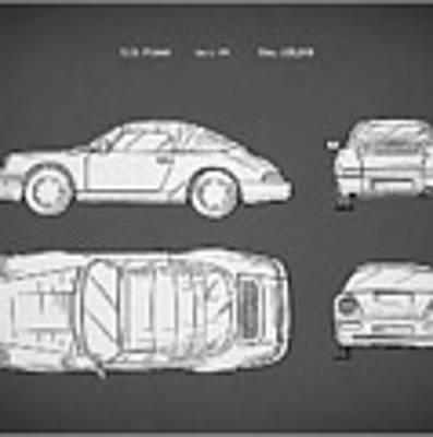 Porsche 911 Cabriolet Patent Poster