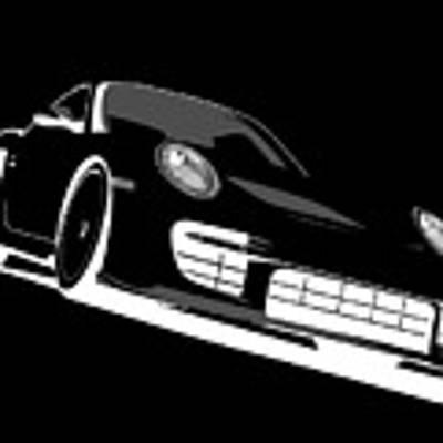 Porsche 911 Gt2 Night Poster by Michael Tompsett