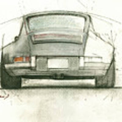 Porsche 911 Rs Poster by Juan Bosco