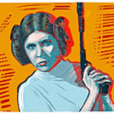 Princess Leia Poster by Antonio Romero
