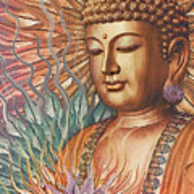 Proliferation Of Peace - Buddha Art By Christopher Beikmann Poster by Christopher Beikmann
