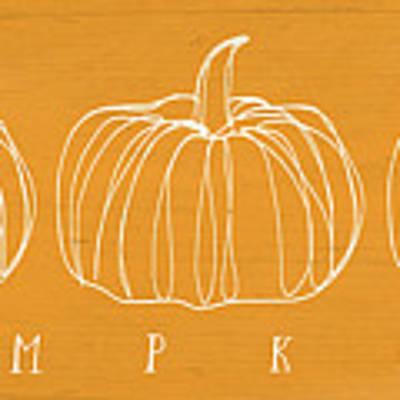 Pumpkins- Art By Linda Woods Poster