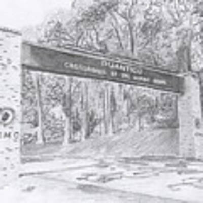 Quantico Welcome Graphite Poster by Betsy Hackett