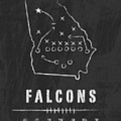 Atlanta Falcons Art - Nfl Football Wall Print Poster