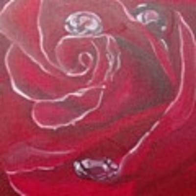 Red Poster by Saundra Johnson
