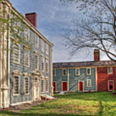 Royall House And Slave Quarters Poster by Wayne Marshall Chase
