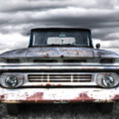 Rust And Proud - 62 Chevy Fleetside Poster