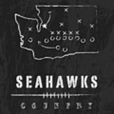 Seattle Seahawks Art - Nfl Football Wall Print Poster by Damon Gray