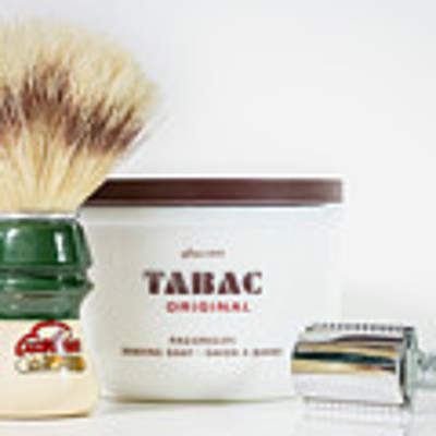 Shaving Set Poster by Gary Gillette