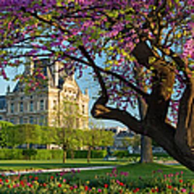 Springtime In Paris Poster by Brian Jannsen