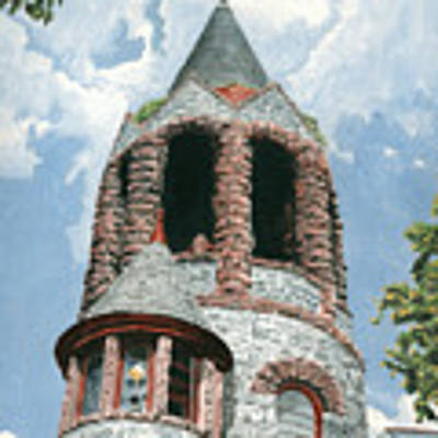Stone Church Bell Tower Poster by Dominic White