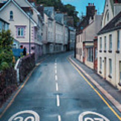 Street Of Summer Countryside Poster by Ariadna De Raadt