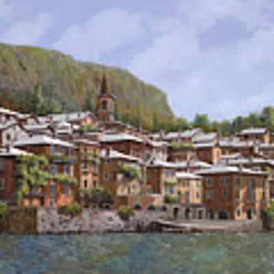 Sul Lago Di Como Poster by Guido Borelli