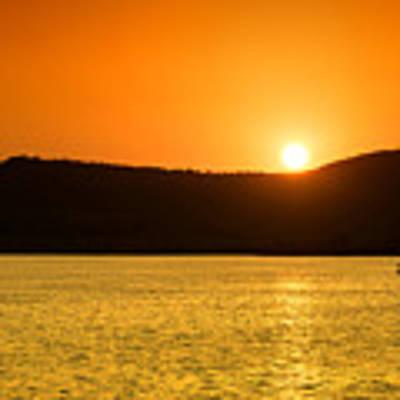 Sunset At Pichola Lake Poster by Yew Kwang