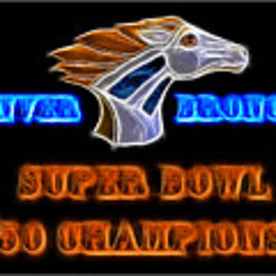 Super Bowl 50 Champions Poster by Shane Bechler