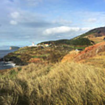 Terceira Island, Ilheus De Cabras And Lighthouse Of Ponta Das Contendas Poster by Kelly Hazel