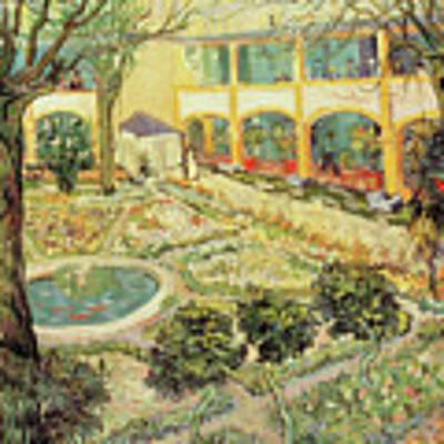 The Asylum Garden At Arles Poster