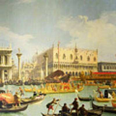 The Betrothal Of The Venetian Doge To The Adriatic Sea Poster