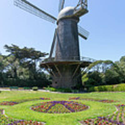 The Dutch Windmill San Francisco Golden Gate Park San Francisco California Dsc6361 Square Poster by San Francisco Art and Photography