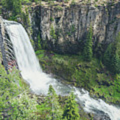 Tumalo Falls Poster by Margaret Pitcher