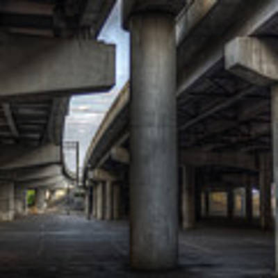 Under The Overpass I Poster by Break The Silhouette