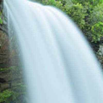 Upper Cullasaja Dry Falls In North Carolina Panorama Poster by Ranjay Mitra